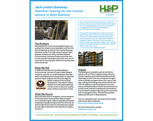 Jack London Gateway HIA (Case Story)
