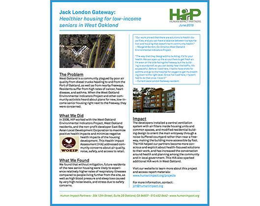 Jack London Gateway HIA (Case Story)