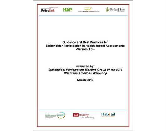 Guidance and Best Practices for Stakeholder Participation