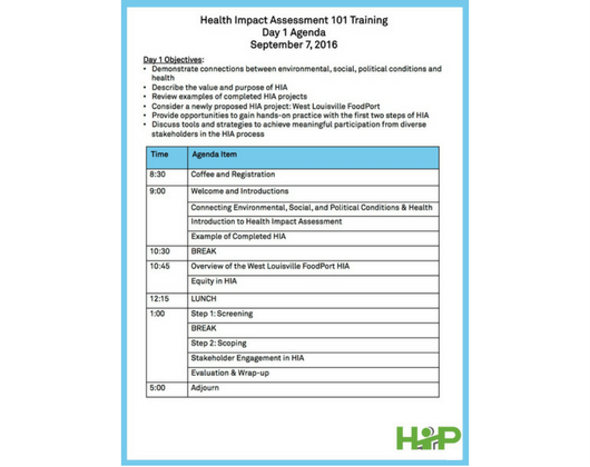 HIA Training Materials