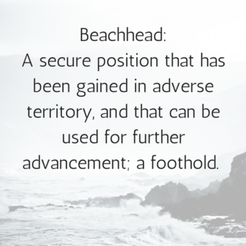 Definition of beachhead