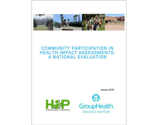 Community Participation in Health Impact Assessments: A National Evaluation