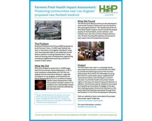 Farmers Field HIA (Case Story)