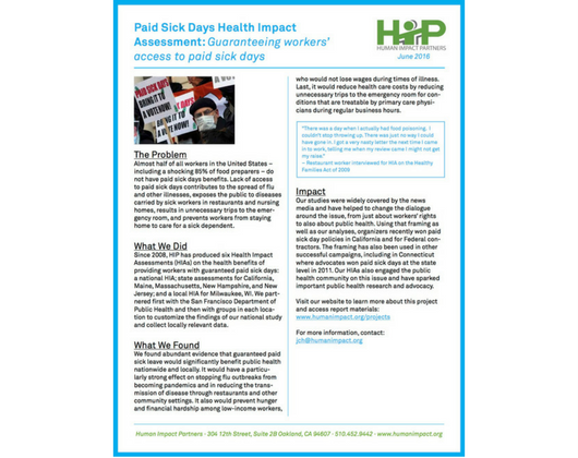 Paid Sick Days HIAs (Case Story)