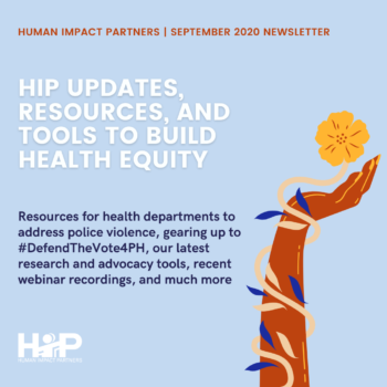 HIP Updates, Resources, and Tools to Build Health Equity