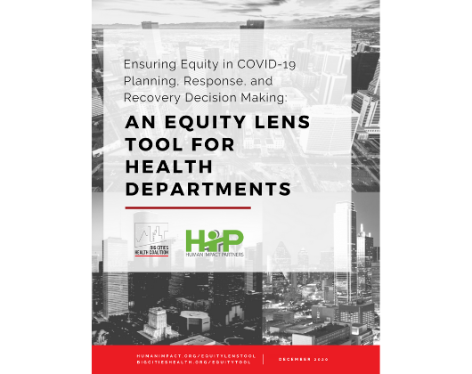 Ensuring Equity in COVID-19 Planning, Response, and Recovery Decision Making